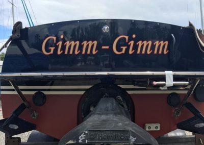 Boat Signs Vinyl Lettering Back