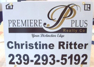 Signs Vinyl Graphic lettering real estate