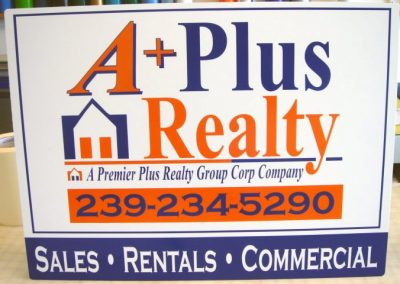 Signs Vinyl Graphic lettering real estate rental