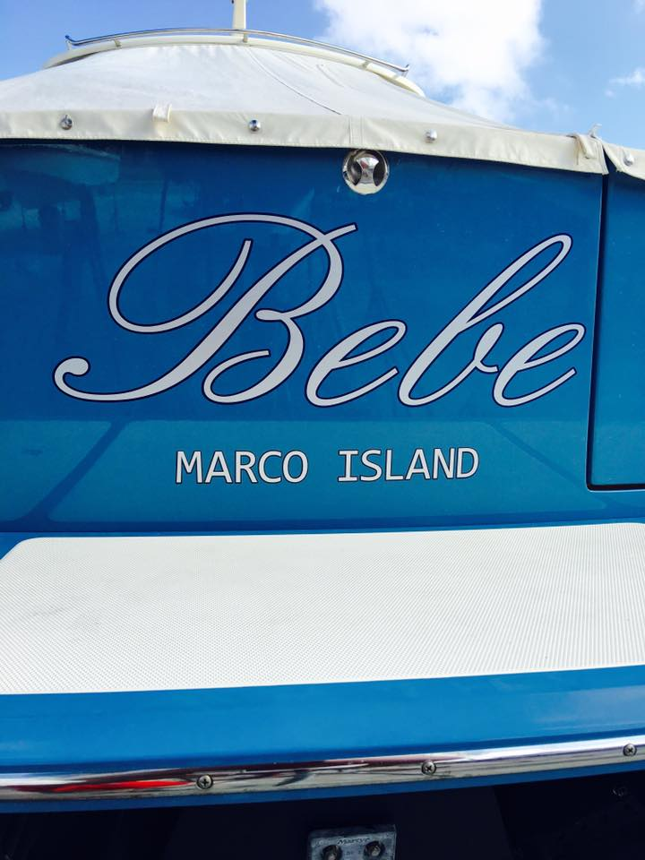 Signs Vinyl Lettering Boat Sign Of The Times Naples Fl