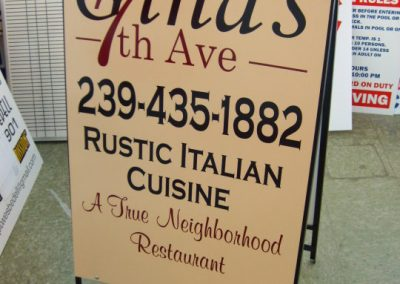 sandwich board lettering signs